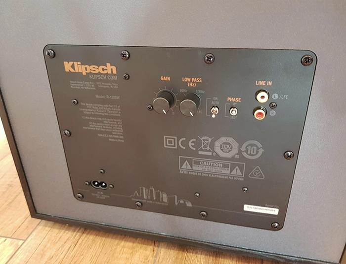 Klipsch R-120SW Inputs