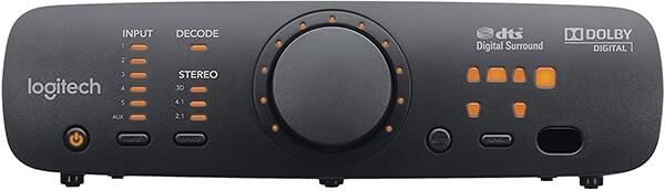 Black Logitech Z906 control button