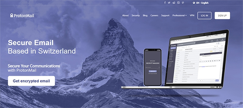Banner of ProtonMail
