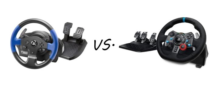 Thrustmaster T150 vs. Logitech G29