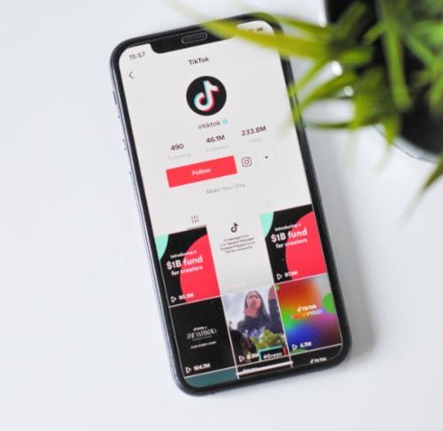 Tiktok App on Desk