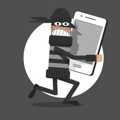 Illustration of stolen phone