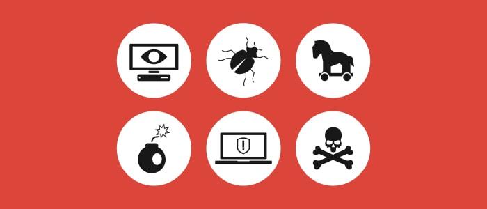 illustration of types of malware